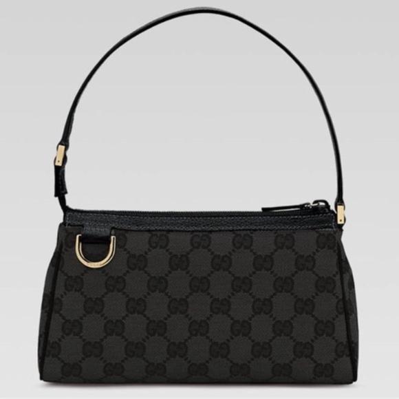 e5180be6afb Gucci Bags   Black Gg Canvas Abbey D Ring Bag   Poshmark